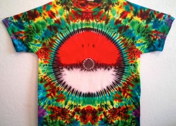 Tie dye shirt pokemon t shirt tie dye by barefootlazertiedye for Custom tie dye t shirts