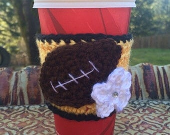 Pittsburg Steeler's Fans Coffee Cup Cozy / Coffee Cup Sleeve / Tea Cup Cozy -- Black & Yellow