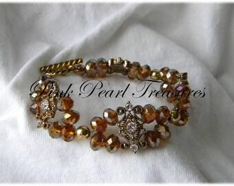 Tara golden beaded bracelet
