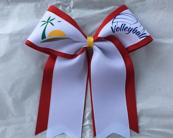 """3"""" Beach Volleyball Bow long tails"""