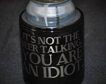 1 Coolie cup, Can Coolers, Groomsmen Best man gift wedding favor engraved Custom personalized