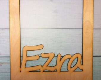 Wood Custom Name insert - Fits 5 x 7 picture frame -any name or word of your choice what you want , Great gift or for family picture