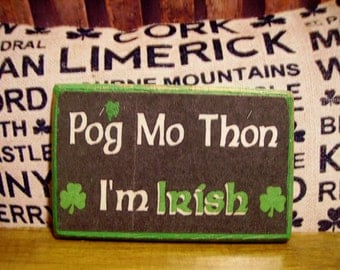 Irish Miniature Plaque for Dollhouse 1:12 scale.