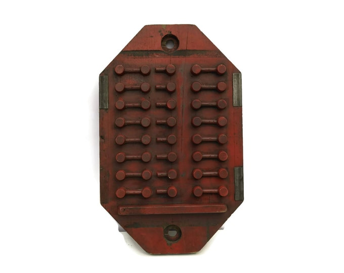 French Antique Wood Foundry Mold. Tool and Die Pattern Mold. Industrial Art. Constructivist Art. Industrial Decor. Antique Industrial Mold.