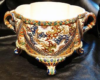 Signed Kinkozan Bowl Antique Japanese  Satsuma Pottery Circa 1800s RARE