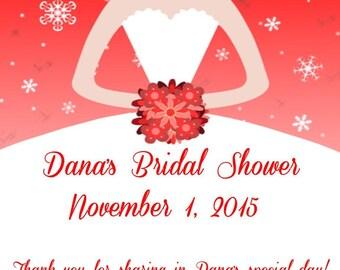 60 Snowflake Bride Favor Tags