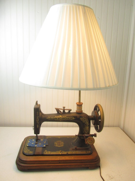 Sewing Machine Lamp Vintage Lamp Table Lamp New Home Sewing