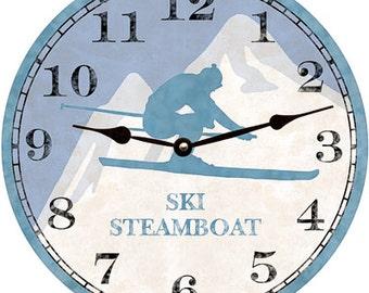 Skier Clock- Personalized Skier Clock
