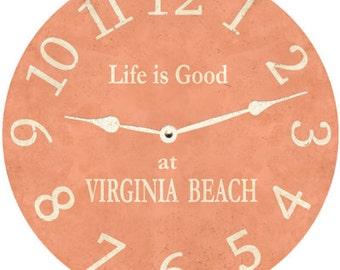 Peach Clock- Personalized Peach Clock