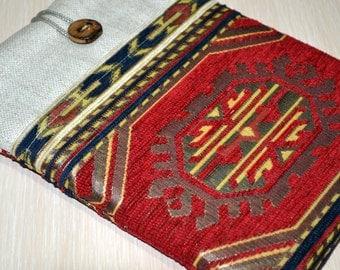 """ipad mini case, ipad mini sleeve, ipad mini 4 case, ipad mini 3 case, Custom 6""""-8"""" Tablet Sleeve padded with pocket- Anatolian kilim"""