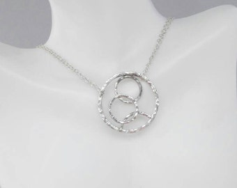 Modern Circle Sterling Silver Necklace