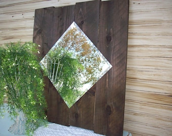 Rustic Mirror / Farmhouse Mirror / Large Wall Mirror / Country Western Decor / Wall Decoration / Rustic Ranch Decor