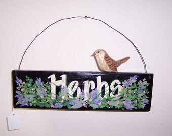 Folk Art Hand Painted signs with carvings