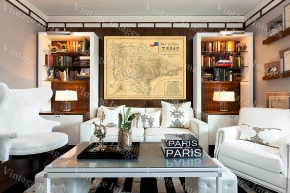Texas Map 1849 Map of Texas, TEXAS, Old Map of Texas, Vintage Map, Restoration Hardware Style Texas Wall art German Map Of Texas Wall Decor