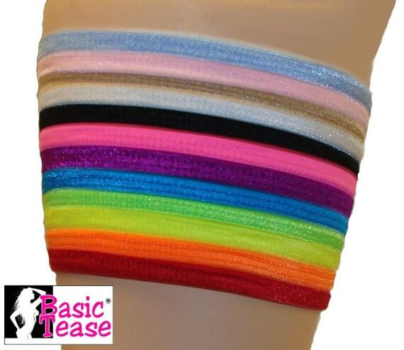 Flat Spandex/Lycra Mini Stripper Garter For Exotic Dancers to Hold Money or Clip your Garter Belt