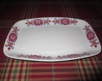 Vintage 60's Retro Turi Design Barcarole Figgjo Fajanse Platter , 13 1/2 inches