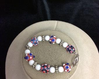 Vintage Colorful Glass Beaded Bracelet