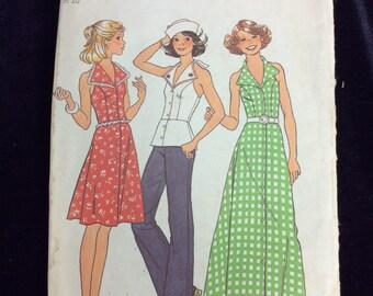 Vintage Simplicity Ladies Dress Pattern #7546 Sz. 9/10 Uncut