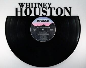 Recycled Vinyl Record WHITNEY HOUSTON Wall Art