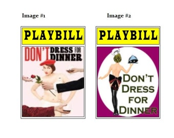 Theater / Show Charm - Playbill Play Bill - Don't Dress for Dinner