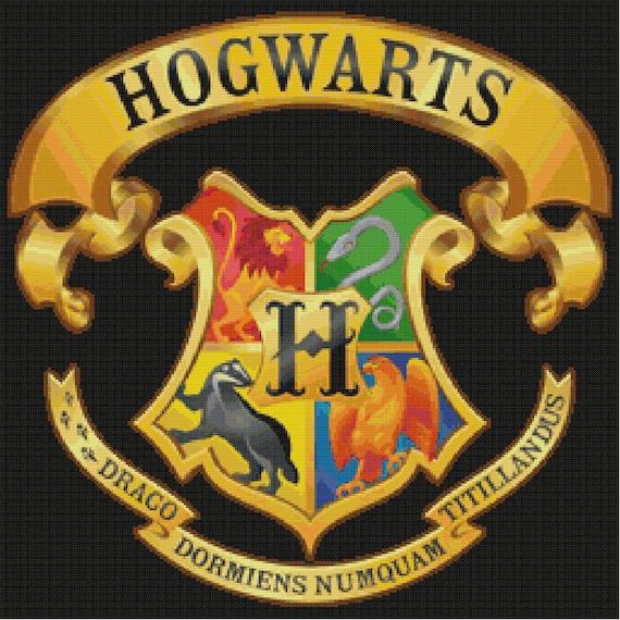 Hogwarts Crest Cross Stitch Pattern Harry Potter