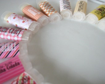 Choose Your Flavor -  Choose ten - Vegan Lip Balm - Natural Lip Butter - bath and beauty