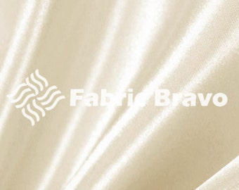 Ivory Satin Fabric 60  Inches Wide  for Weddings, Decor, Gowns, Sheets, Costumes, Dresses, etc 4070