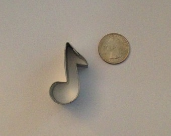 "1.75"" Mini Music Note Cookie Cutter"