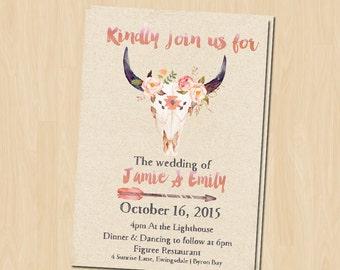 Boho Wedding invitation Suite / Rustic Wedding / Country Wedding invitation -Set including / RSVP