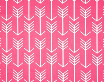 Hot Pink Arrow Fabric by the Yard geometric upholsery home candy decor Premier Prints - 1 yard or more -  SHIPS FAST