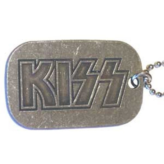 KISS Rock Band Metal Dog Tags Chain Necklace CDV-DT0005 by ...