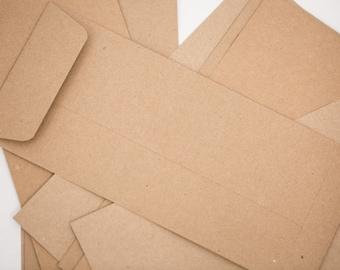 25 Kraft Envelope Open End | No. 10 Envelopes w/ Square Flap in Kraft | 100% RECYCLED Envelopes | Number 10 envelope | #10 business envelope