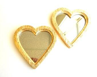 8x7.75, Mirrors Gold, Heart Mirrors, Decorative Mirrors, Wall Hanging, Gold Frame Mirrors, Wall Mirrors , Vintage Mirrors, Gold Mirrors