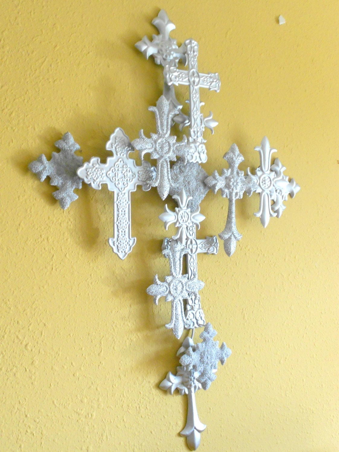Attractive Turquoise Cross Wall Decor Composition - Wall Art ...