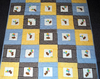 Baby Boy Quilt and Pillow
