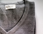 CLEARANCE Christian Dior men's V neck sweater/ Gray XL large SALE