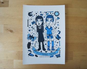 The Fluttery Twins - Bug Babe Digital Print