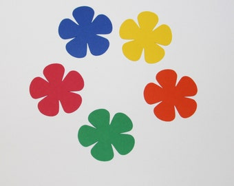 Primary color paper flower die cuts/ 25pc set / --choose size--