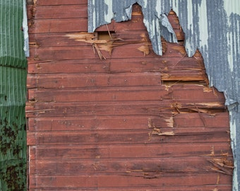 Rustic barn - fine art photography print, wood, metal, farm, Nebraska