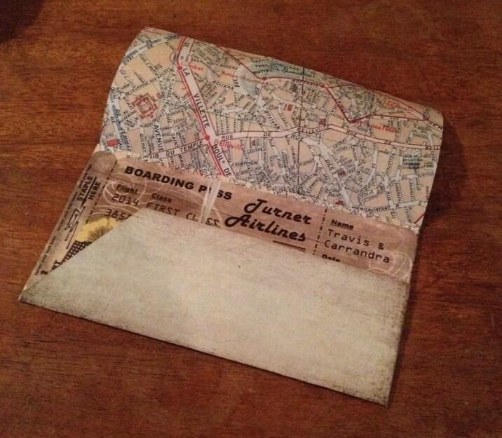 boarding pass pocket envelope template for wedding birthday