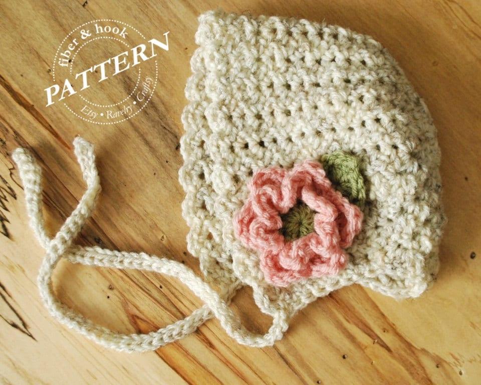 CROCHET PATTERN Petite Shells Baby Bonnet Baby Crochet
