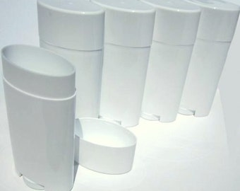 5 White Deodorant Containers
