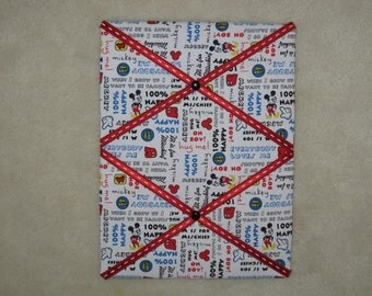 "12""x16"" Mickey Mouse memory board, Photo memory board, Disney memory board, Kids memory board"