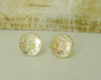 Smal  cabochon - stud earrings 8 mm