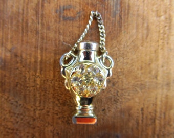 Vintage Silver Metal Bracelet Perfume Bottle - Small Glass Perfume Bottle Charm With Dauber