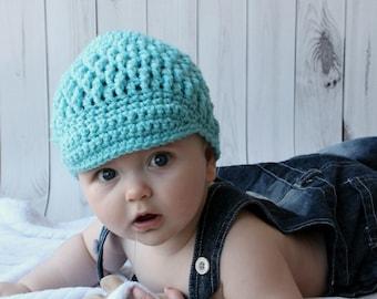 GENEROSITY hat with BRIM newsboy textured beanie bespoke handmade made to order crochet knitting newborn baby toddler child adult