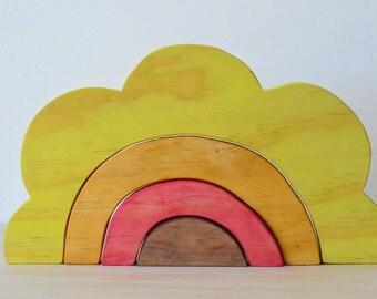 Wooden Sunrise Toy Stacker