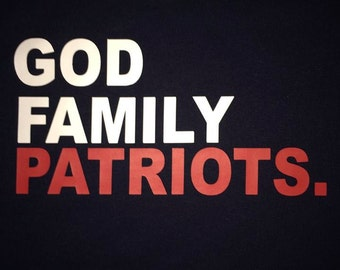 God Family Patriots Men's Shirt
