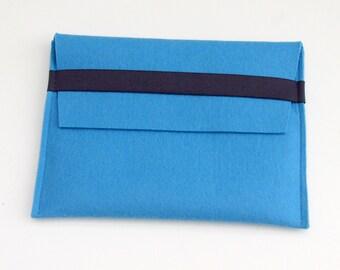 SALE Pale Blue Wool Felt iPad Cover, Felt iPad Sleeve, Felt Case iPad, Blue Felt Cover, Sleeve iPad Pale Blue