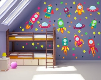Kid Room Decor Outer Space Etsy